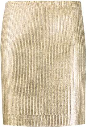 Moschino metallic mini skirt