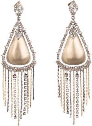 Alexis Bittar Crystal Encrusted Tassel Chain Post Earring