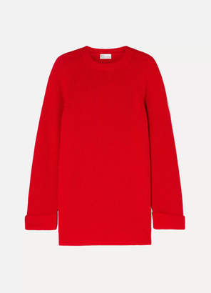 RED Valentino Oversized Ribbed Wool Sweater - large