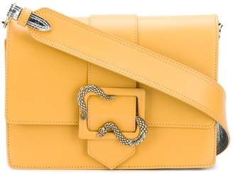 Just Cavalli snake buckle shoulder bag