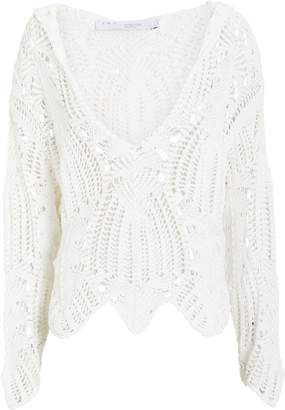 IRO Bella Cotton Crochet Sweater