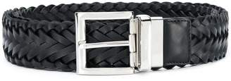 Prada woven buckled belt