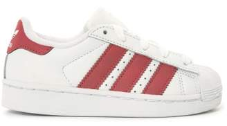 adidas Sale - Superstar Iridescent Lace-Up Leather Trainers