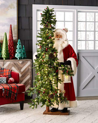Ditz Designs By The Hen House Rose Apple Christmas Santa with Tree