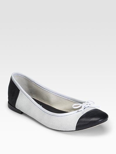 Comme des Garcons Repetto For Comme Leather and Suede Ballet Flats