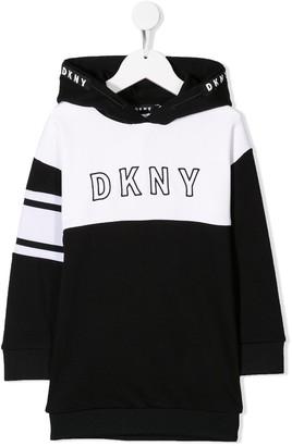 DKNY logo embroidered sweat dress
