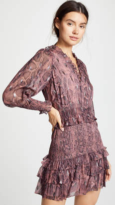 Rebecca Taylor Snake Smock Dress