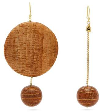 Rosantica By Michela Panero - Mismatched Bamboo Drop Earrings - Womens - Gold