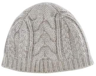 Malo Cashmere Cable Knit Beanie