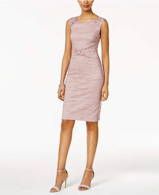 Jessica Howard Embellished Ruched Sheath Dress $139 thestylecure.com
