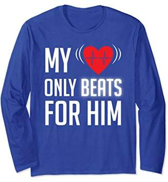 Heart Beat for Him Long Sleeve Shirt Matching Couple Outfits