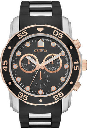 GENEVA Geneva Mens Black Strap Watch-Fmdjm578