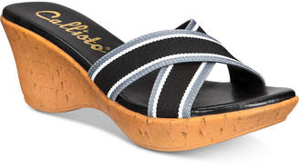 Callisto Segway Slide Platform Wedge Sandals Women's Shoes