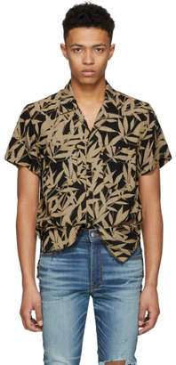 Amiri Black and Yellow Leaf Shirt