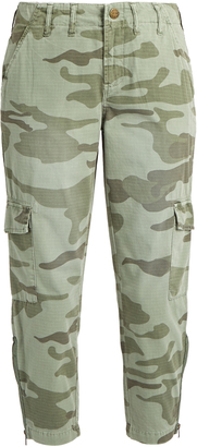 CURRENT/ELLIOTT The Utilitarian camouflage-print trousers $271 thestylecure.com