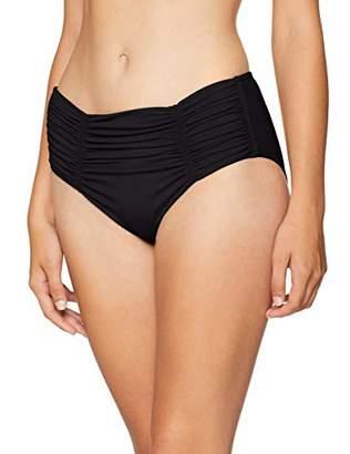 3abaa31cb09b0 Seafolly Women's Gathered Front Retro Pant Bikini Bottoms,Black (Black),  (Manufacturer