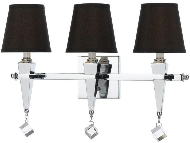 AF Lighting AF Lighting Margo 3-Light Chrome Vanity Light with Chocolate Shade