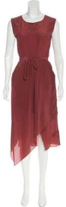 AllSaints Midi Asymmetrical Dress