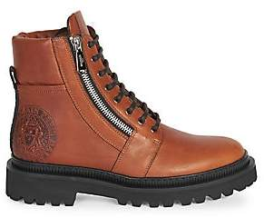 Balmain Men's Ranger Embossed Leather Army Boots