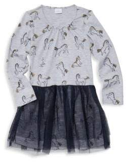 Little Girl's & Girl's Layla Print Layered Dress