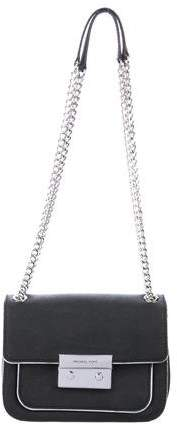 Michael Kors Chain-Link Leather Bag - BLACK - STYLE