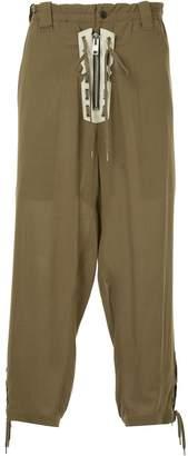 Yohji Yamamoto loose fit cropped trousers