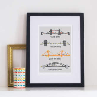 Fox & Velvet Four Famous Bridges Print