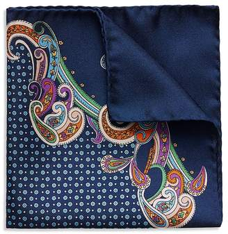Eton Paisley Floral Medallion Pocket Square