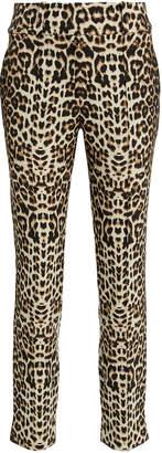 Veronica Beard Leopard High-Rise Trousers