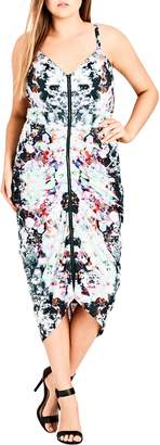 City Chic Fresh Floral Body-Con Dress