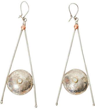 One Kings Lane Vintage Sterling Silver Wishbone Earrings - Maeven