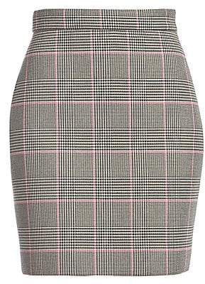 MSGM Women's Houndstooth Mini Skirt