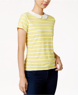 Maison Jules Striped Collar Top, Only at Macy's $39.50 thestylecure.com