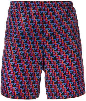 Prada geometric print swim shorts