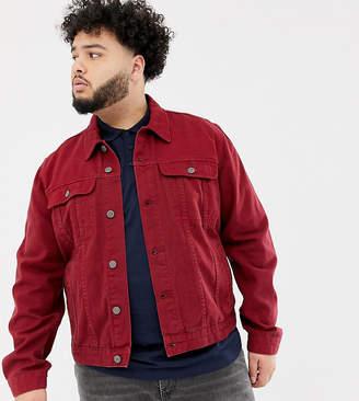 Asos Design DESIGN Plus denim jacket in red