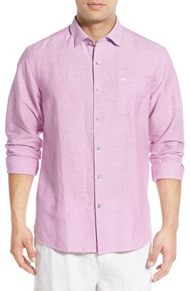 Tommy Bahama 'Islander' Linen & Cotton Sport Shirt (Big & Tall) $138 thestylecure.com