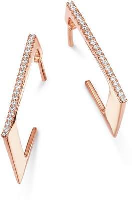 Bloomingdale's Diamond Rectangular Hoop Earrings in 14K Rose Gold, 0.10 ct. t.w. - 100% Exclusive