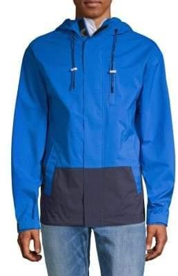 DKNY Colorblock Hooded Jacket