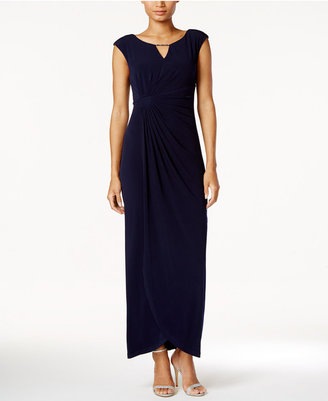 Connected Embellished Faux-Wrap Gown $79 thestylecure.com