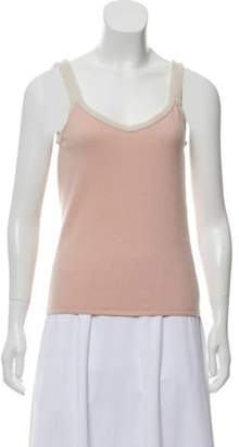 Chanel Cashmere Sleeveless Top Pink Cashmere Sleeveless Top