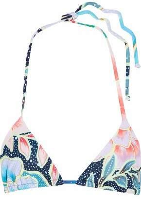 Mara Hoffman Floral-Print Halterneck Bikini Top