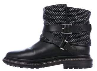 Chanel Leather Ankle Boots Black Leather Ankle Boots