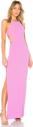 Halston High Neck Tie Back Gown