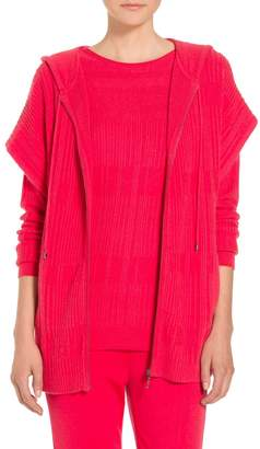 St. John Cashmere Wool Blend Sequined Knit Cardigan