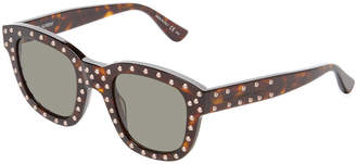 Saint Laurent Paris Lou 100 Studded Square Frame