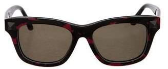 Valentino Rockstud Camouflage Sunglasses