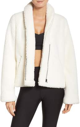 Alo Cozy Up Faux Fur Crop Jacket