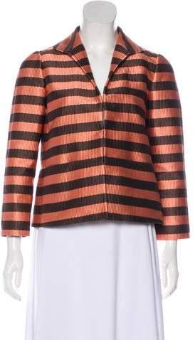 Lafayette 148 Lightweight Stripe Jacket