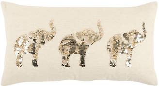 """Rizzy Home 14"""" x 26"""" Elephants Pillow Cover"""