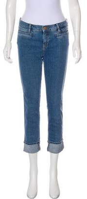 MiH Jeans Mid-Rise Cropped Slim Straight-Leg Jeans